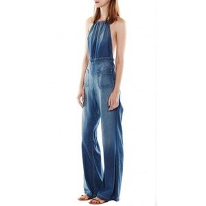 Current/Elliot denim halter overall jumpsuit